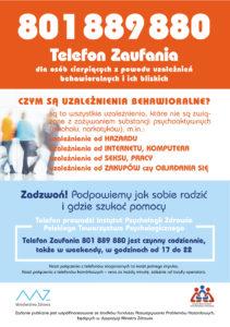 Telefon zaufania w sprawie uzależnień pozachemicznych